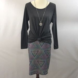 Lularoe Cassie with gray  Lynnae